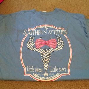 Southern attitude tee with deer